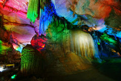 Beautiful's multilayer karst cave Royalty Free Stock Photos