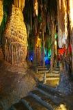 Beautiful's multilayer karst cave Stock Photos