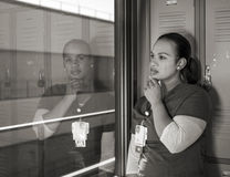 Beautiful Sad African American Nurse Crying Royalty Free Stock Image