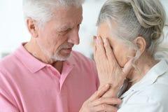 Beautiful sad elderly couple Royalty Free Stock Photo