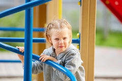 Beautiful sad little girl crying Royalty Free Stock Image