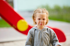 Beautiful sad little girl crying Stock Photos