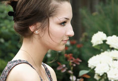 Beautiful sad thinking teen girl Royalty Free Stock Image