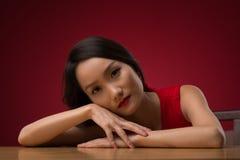 Beautiful sad woman Stock Images