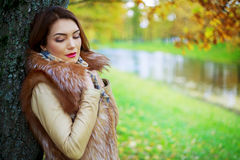 Woman in the park Royalty Free Stock Image