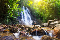 Beautiful Sai Rung waterfall Royalty Free Stock Photo