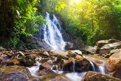 Beautiful Sai Rung waterfall. In Thailand Royalty Free Stock Photo