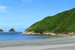 Beautiful Sai Wan beach in Hong Kong Royalty Free Stock Images