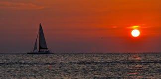 Beautiful sail at dusk Royalty Free Stock Photography