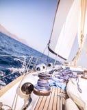 Beautiful sailboat in the sea Stock Photos
