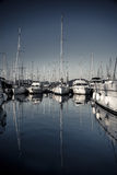 Beautiful sailboats in the harbor Stock Photo