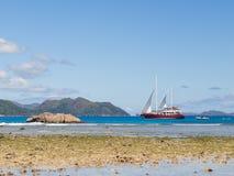 Beautiful sailing yacht Stock Photo