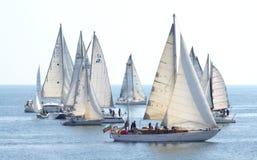 Beautiful sailing yachts view Stock Photography