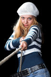 The beautiful  sailor Stock Photos