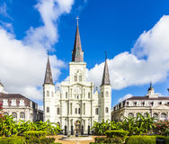 Beautiful Saint Louis Cathedral in the French Quarter in New Orl Stock Photo