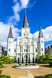 Beautiful Saint Louis Cathedral in the French Quarter in New Orl Stock Photography
