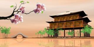 Beautiful sakura place Stock Photos