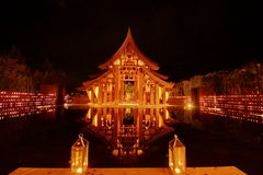 Beautiful sala in Thailand ,night view Stock Image