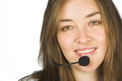 Beautiful sales representative - customer service girl Stock Photography