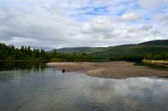 Beautiful salmon river landscape Royalty Free Stock Photography
