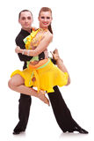 Beautiful salsa dance couple posing Royalty Free Stock Image