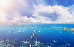 Beautiful salt lake Royalty Free Stock Photo