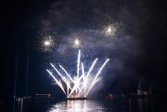 Beautiful salute and fireworks Stock Photos