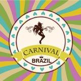 Beautiful samba dancer and flowers invitation Stock Photography
