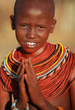 Beautiful Samburu girl in Archers Post, Kenya. Stock Photography