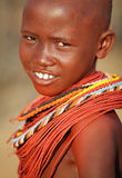 Beautiful Samburu girl in Archers Post, Kenya. Stock Photo