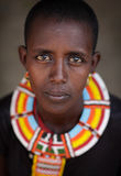 Beautiful Samburu woman in Ngurunit, Kenya. Royalty Free Stock Photo