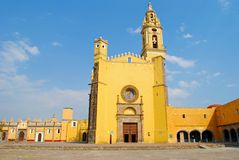 San Gabriel Convent in Cholula Mexico royalty free stock photos