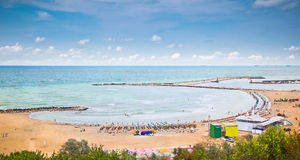 Beautiful sand beach on Black sea ,Constanta, Romania. Stock Images