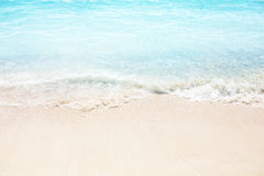 Beautiful sand beach and tropical sea Stock Images
