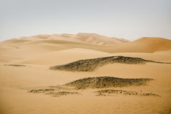 Beautiful sand desert dunes in the Middle-East Stock Photography