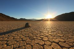 Beautiful Sand Dune Formations in Death Valley stock photography