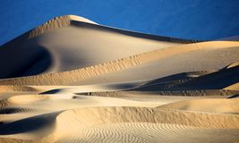 Beautiful Sand Dune Formations in Death Valley Stock Photo