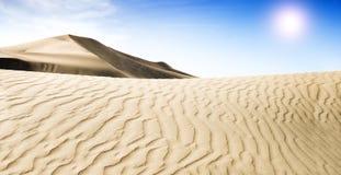 Beautiful Sand Dune. Gold desert. Stock Photos