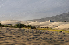 Beautiful sand dune and Layer mountains in Nubra Valley. Royalty Free Stock Photos