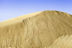 Beautiful sand dune scenery in United Arab Emirates Royalty Free Stock Image