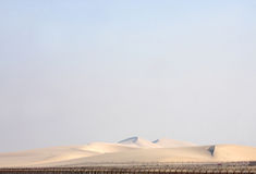 Beautiful sand dunes in Qatar Stock Image