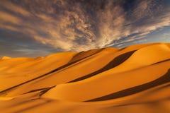 Beautiful sand dunes in the Sahara desert Royalty Free Stock Photo