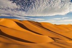 Beautiful sand dunes in the Sahara desert Royalty Free Stock Photography