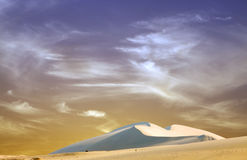 Beautiful sand dunes during sunset Royalty Free Stock Images