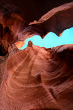Beautiful sand rock cave by water erosion Royalty Free Stock Images