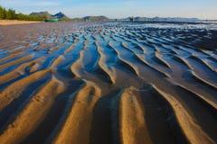 Beautiful sand wave texture. Beautiful natural beach with sand wave texture Stock Photos