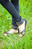 Beautiful sandals Stock Photo