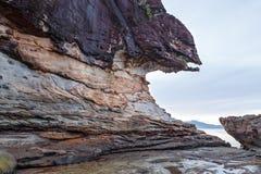 Beautiful sandstone rock at beach Royalty Free Stock Photo