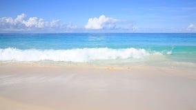 Beautiful sandy beach. Praslin, Seychelles stock footage