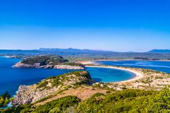 Voidokillia Beach on Peloponnese in Greece stock photography